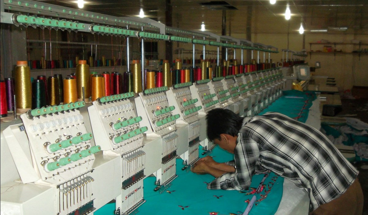 Skilled opertor working at FPVL's Embroidery Factory